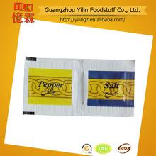 Chino 1.1g la fabricación de sal y pimienta bolsita para las aerolíneas productos con certificados haccp y la iso