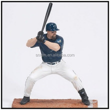 customized pop baseball action figures player,plastic lifelike baseball player action figures made in china
