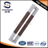 Luxury wooden handle of door handle manufacturer produce door handle