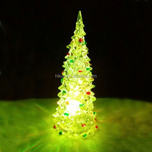 Crystal LED X'mas Tree RGB 7 Color USB Crystal Christmas Tree