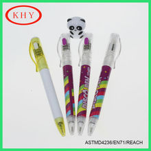 Multi-function Plastic LED Ball Pen with Heat Transfer Printing