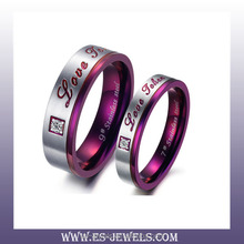 316L Stainless Steel Purple Rings Prong Setting Rings Wholesale rings