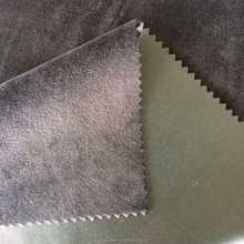 93% polyester 7% spandex ptinted velboa with pu leather caoted fabric, windproof fabric,women pants spandex polyester fabric