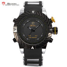 Shark 3ATM Waterproof Big Dial Black Face Analog Outdoor Sport Men Casual Wrap Cycling Amazing Led Electronic Watch