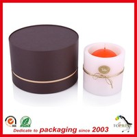 Round shape luxury candle box gift packaging paper box candle