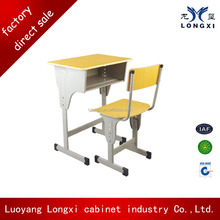 high quality Comfortable Classroom Furniture Double /single School Desk and Chair Set Export from China