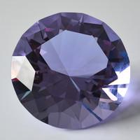large 100mm purple K9 crystal diamond stone paperweight decoration