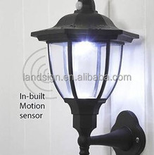 Landsign solar wall light series XLTD-249DW solar lantern shaped rechargable led solar lamp