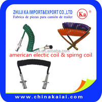 american truck tailer parts DOT SAE air coil assembly ABS electric cable brake hose air hose