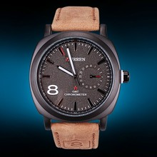 2015 real leather quartz luxury watch brands
