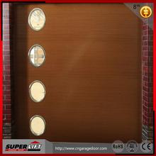 Superlift wood garage door panel with window style