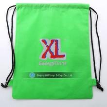 Custom printed Promotional fashion non woven/cotton/nylon drawstring bag