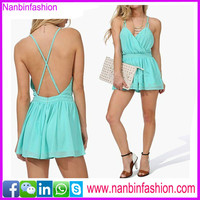 Shenzhen Nanbinfashion hottest green casual loose fit summer dress