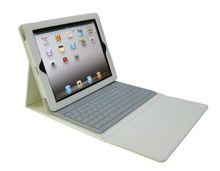 Factory wholesale High-quality CE,FCC,ROHS PU Leather Case and Silicone Bluetooth Keyboard Case for iPad 3