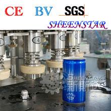 Agua de Soda de aluminio de latas de llenado y sellado de la máquina