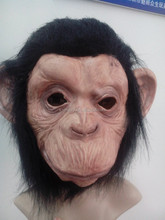 X-MERRY Realsitic Halloween /Fancy Costume Prop Latex Animal Party Monkey With Long Hair Mask
