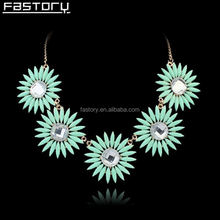 high end acrylic resin flower bohemian jewelry wholesale for woman