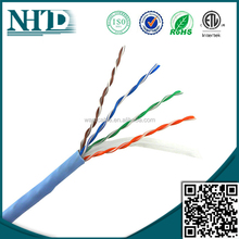 High quality cat 6 cable PVC Jacket/PE insulation 1000ft/roll