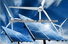 2kw 3kw 5kw verde de alimentación de energía del sistema con pequeña turbina de viento y módulos solares