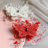 Bridal jewelry wholesale handmade butterfly hairpin Korean style wedding accessories bridal headdress 2 color XN015