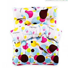 Luxury Twin full queen size cotton 4-pieces brown pink blue yellow white spot the dot for girls korean polyester bedding set