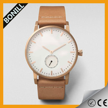 Unisex fashion watch own logo japan movt quartz watch stainless steel back