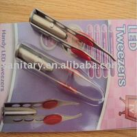 LED Light and light eyebrow tweezer