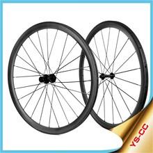 2015 YISHUNBIKE Hot Selling 700C Road Bike Carbon Wheel 23mm Wide 38mm Tubular Bicycle Wheels For Sale CC38T
