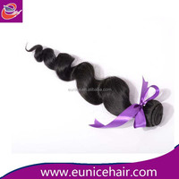 30 inch low minimum order quantity Malaysian loose wave human hair extension, micro braid synthetic hair