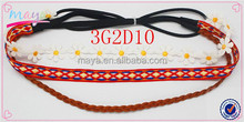 Factory Wholesale Beautiful Dasiy 3PK Hair Accessories Elastic Rope Headbands