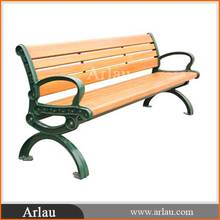 Arlau FW32 outdoor cast iron synthetic wood wpc recycle plastic wood benches