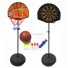 2 in 1 Magnetic Basketball Stand with Magnetic Dart Board