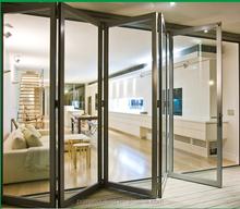 New Type Double Glazed Aluminium Folding Door with Glass