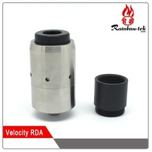 2015 new design Top Selling Velocity RDA atomizer 1:1 Clone Goliath RDA Top Popular Velocity RDA Clone with 6 Air Holes