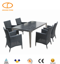 round rotating black granite stone top dining tables for sale