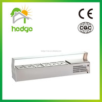 High quality commercial display salad refrigerator with OEM factory GuangZhou