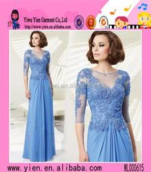 China Wholesale Beaded Flowing Long Chiffon Evening Dress Latest Elegant Floor-Length Flowing Long Chiffon Evening Dress