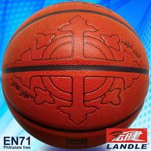Made in China basketball of 12 panles PU basketball wholesale promotional leather basketball