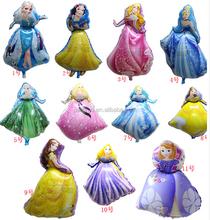 Bule Princess foil balloon cinderella mylar balloon high quality princess balloon helium ballon globes