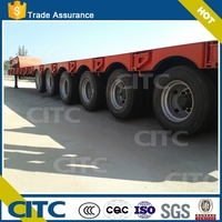 tri-axle low bed semi trailer 6 axles low bed trailer for sale