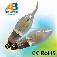 1.8w 1w cob led bulb 230lm 110v lamp e14 220v led candle