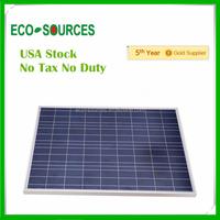 USA Stock No Duty no Tax high quality A grade 100w solar panel 100w 12v free shipping