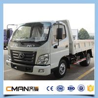 China mini 4x2 diesel fuel foton 2 ton dump truck low price sale