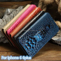 Newest arrival luxury crocodile pattern case for iphone 6 6 plus crocodile embossed leather for iphone 6 6plus case