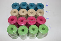 1.5mm thickness x 100 yards length colored 3 ply twisted jute twine rope