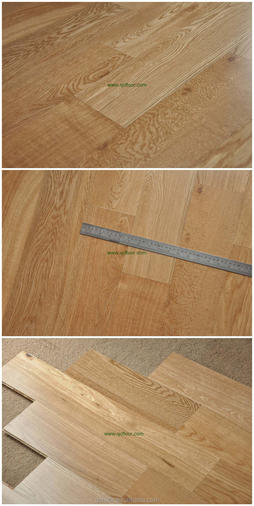 Uv lacquered white oak engineered flooring cheap wood for Cheap engineered wood flooring