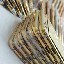 unique black gold back cover housing for iphone 6 , for iphone 6 plus black gold housing with logo cutomized