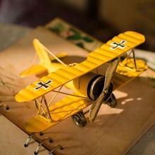 zakka retro de comestibles biplano modelo creativo manualidades accesorios para el hogar b0104 adornos