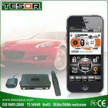 Smartphone GSM car alarm GPS tracker and remote engine starter