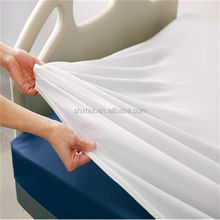 China factory polyester cotton fabric hotel bedding fabric, white fabric T/C 50/50 40x40 110x90